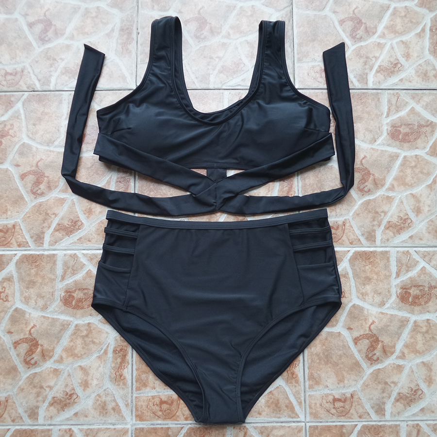 Plus Size High Waist Bikini Set