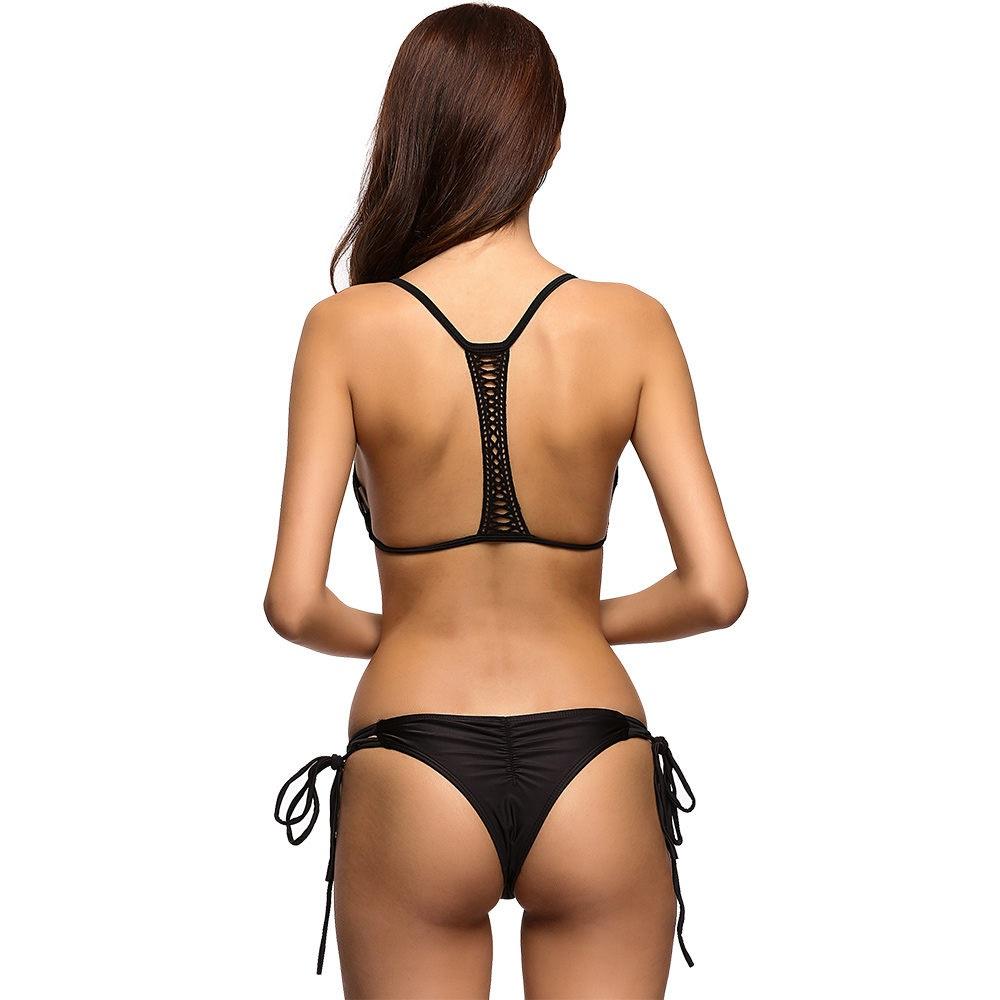 String Tie Bikini Set