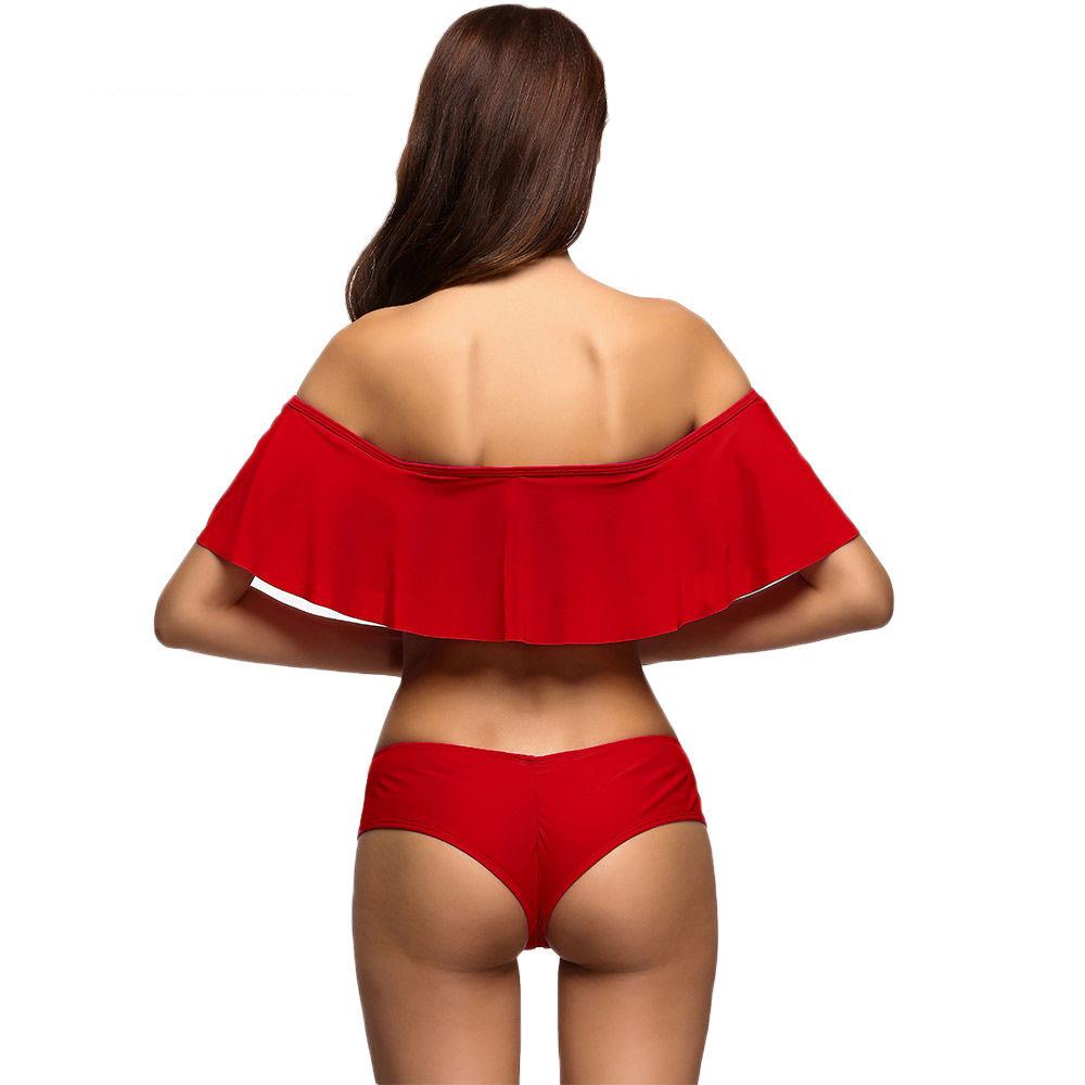 Bandeau Ruffle Bikini
