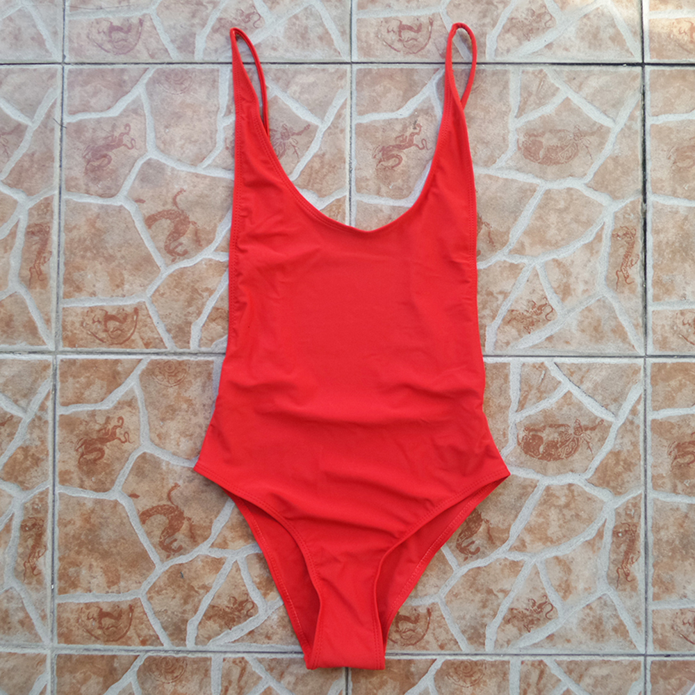 One Piece Backless Swimsuit