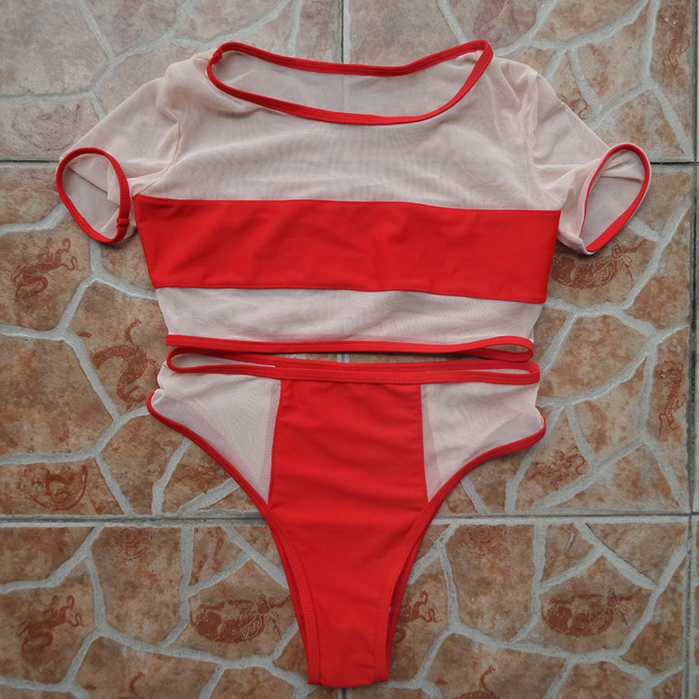 Red Mesh Bikini