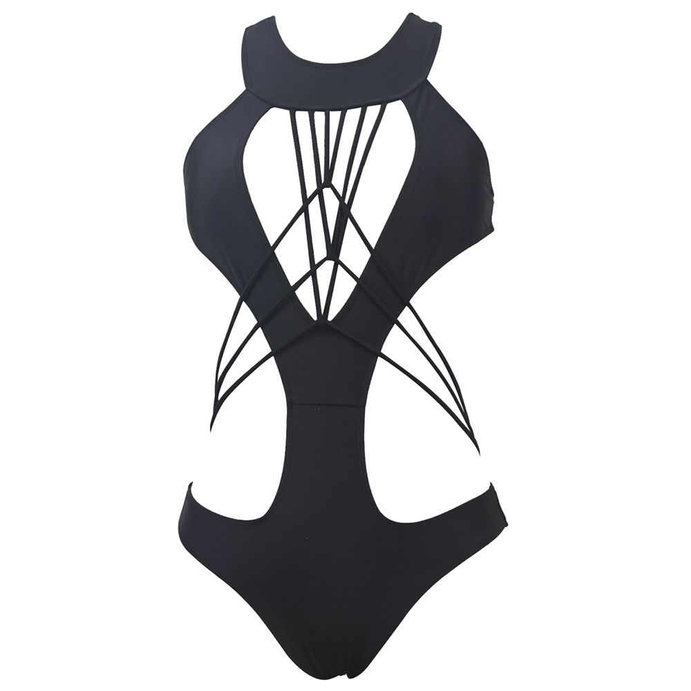 High Neck Strappy One Piece