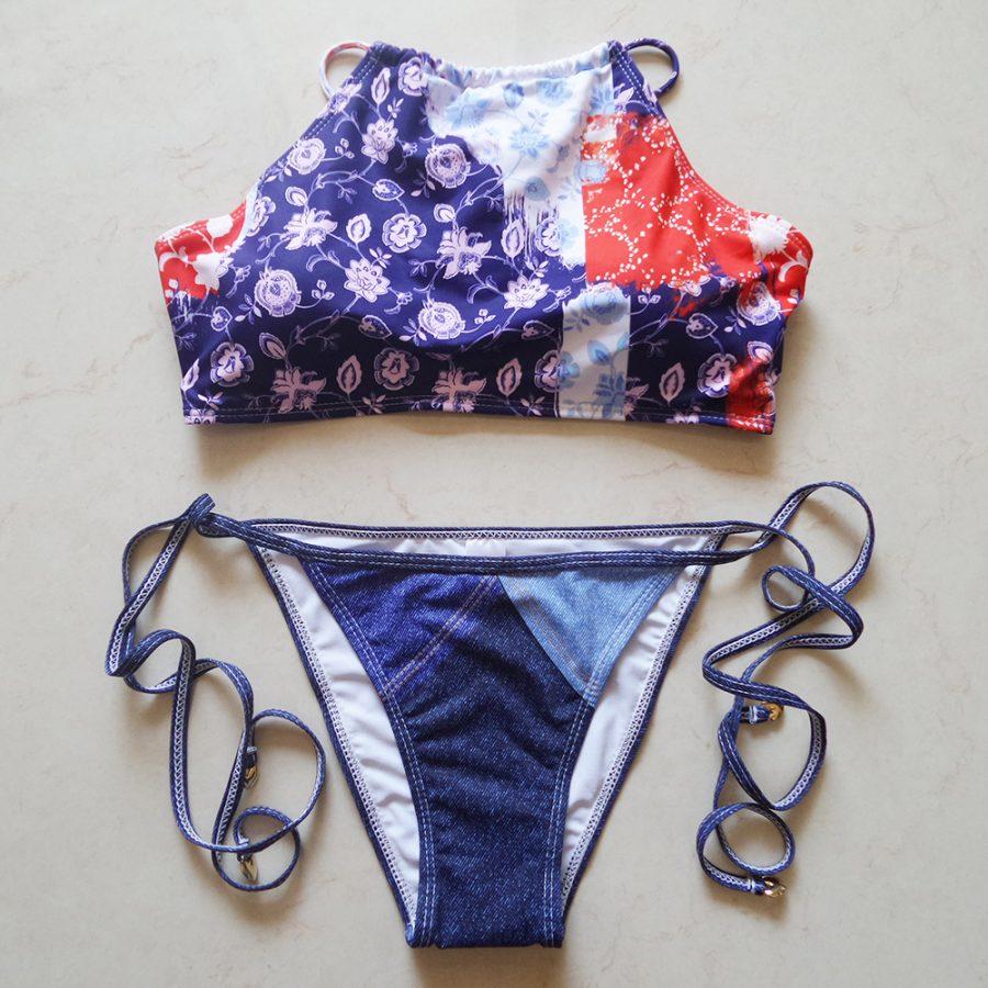 Denim Bikini Two Piece