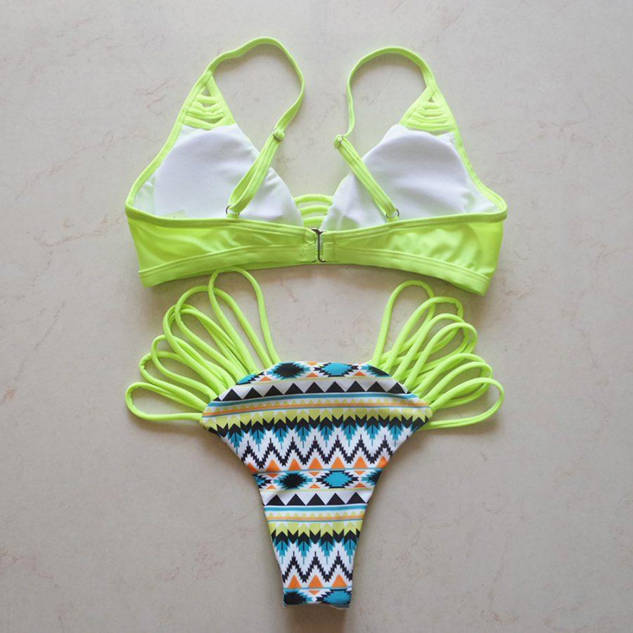 Stringy Pattern Bikini