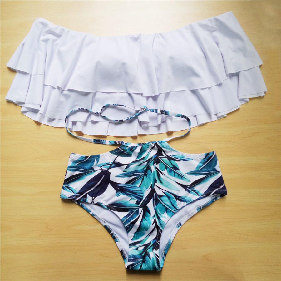 Ruffle High Waist Bikini